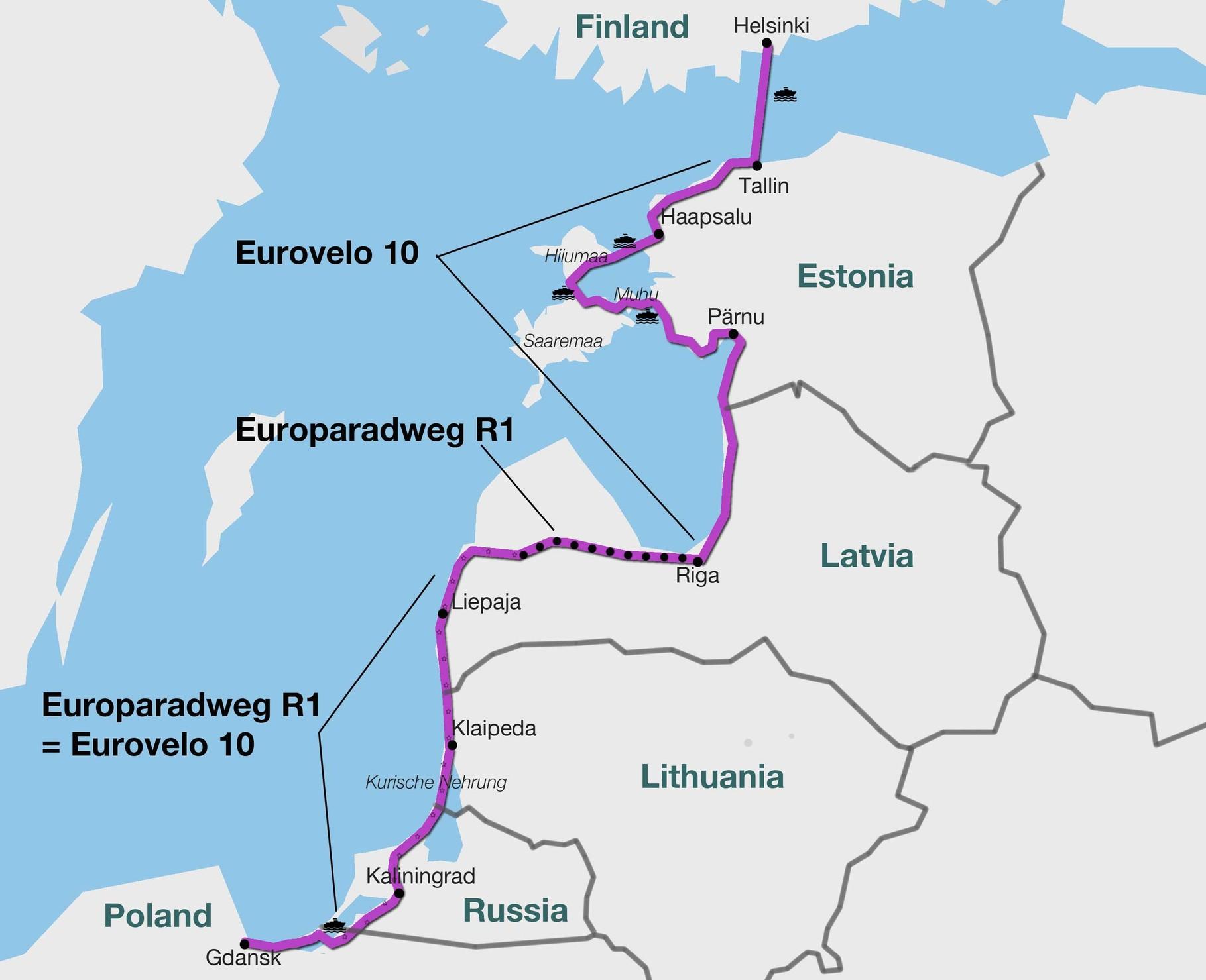 Ostseeradweg Karte.Route Der Radtour An Der Ostseeküste Leben Auf Und Mit Dem Fahrrad