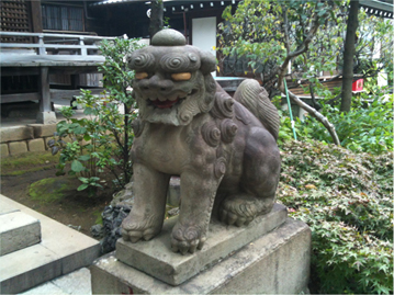 白山神社 狛犬