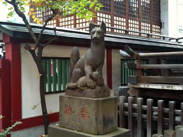 柳森神社 狛狐