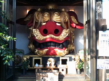 波除稲荷神社 お歯黒獅子