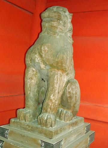 香取神宮 楼門 狛犬