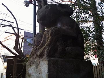 調神社 狛兎