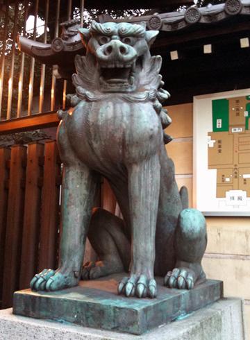 靖國神社 狛犬 南門