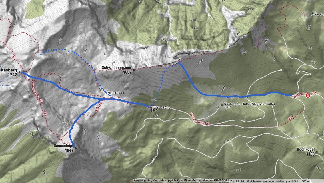 Karte Quelle Bergfex