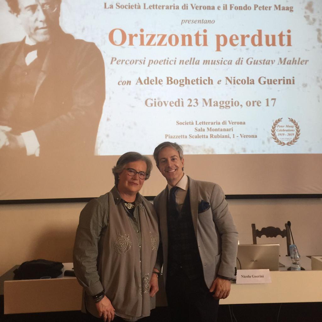 Con Nicola Guerini, Società Letteraria, Verona