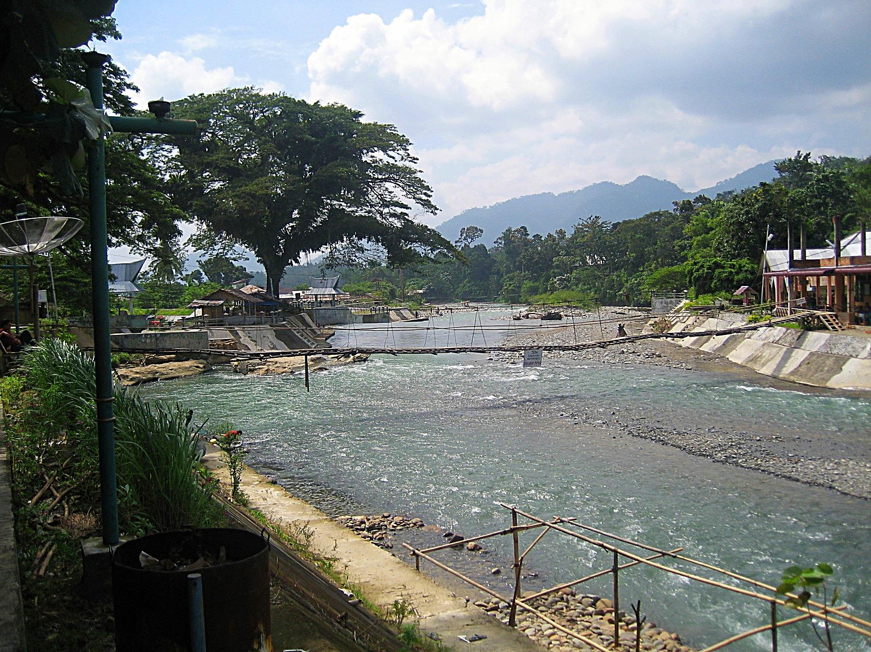 Bohorok River in Bukit Lawang
