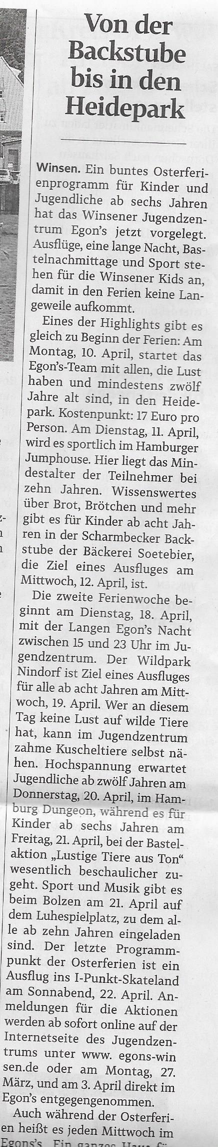 Winsener Anzeiger, 23.März 2017
