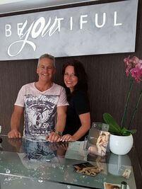 Christian Schmal mit der Inhaberin Angela Schmoll