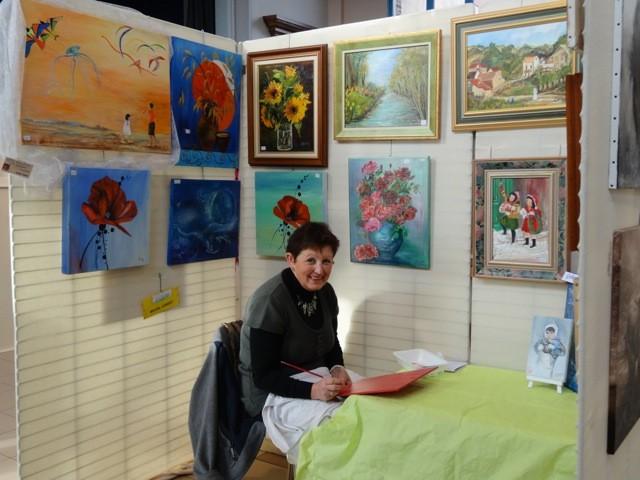 Madame Gobert-Caille ne perd pas de temps, elle peint !