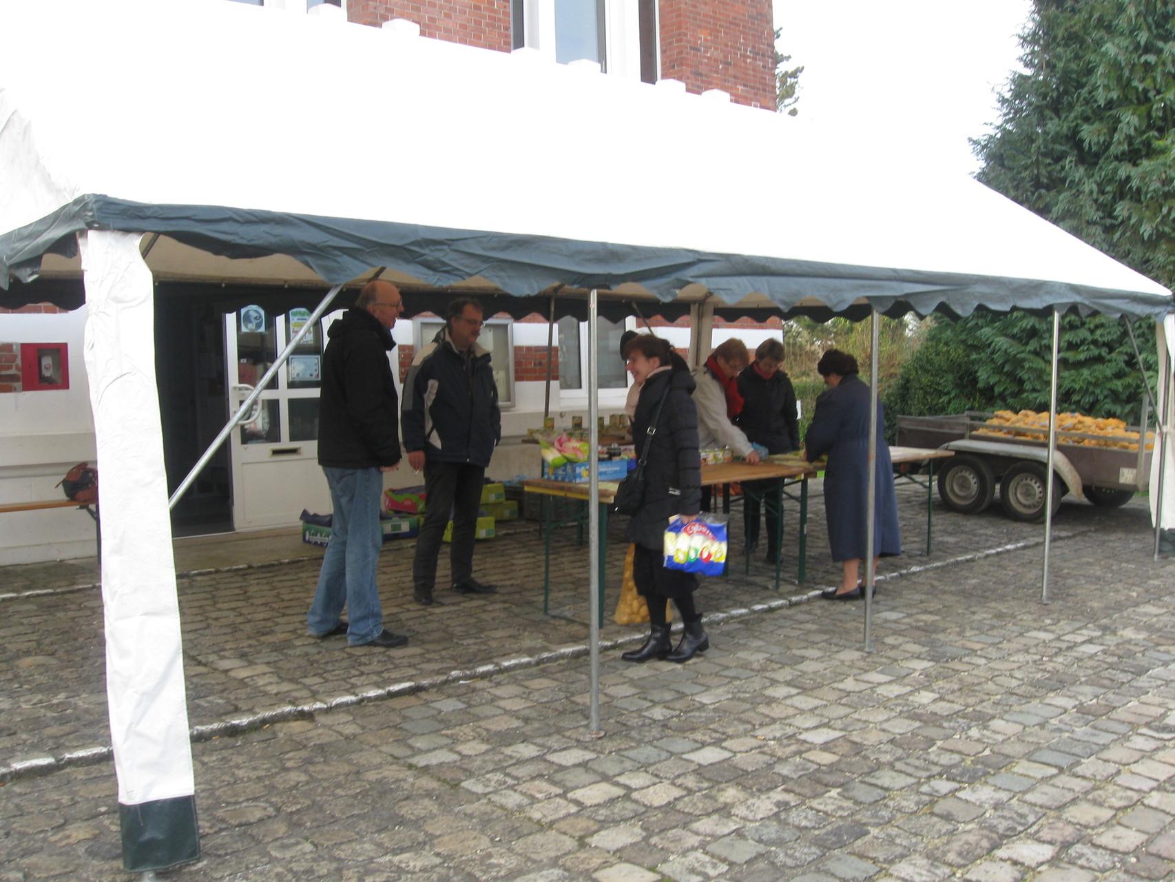 Des légumes offerts ont permis de contenter les acheteurs