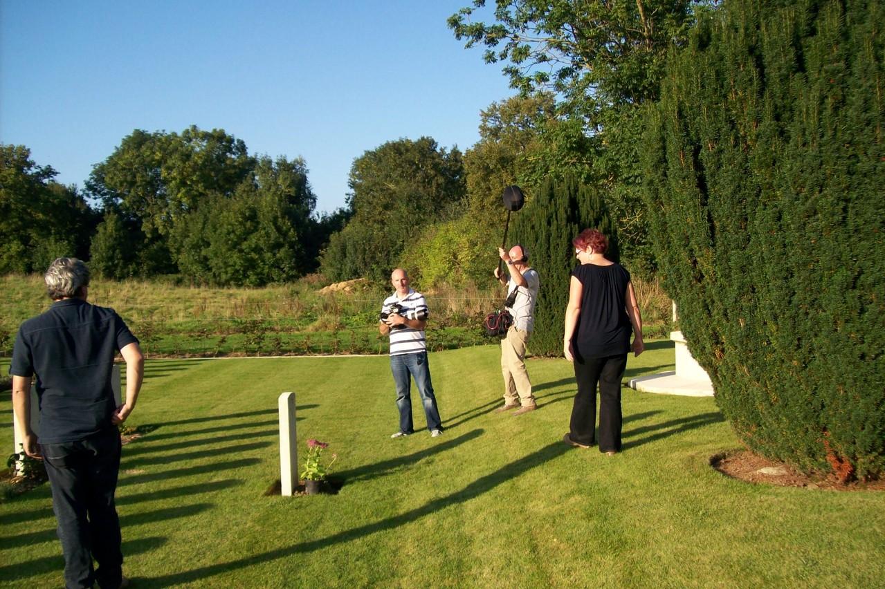 au cimetière anglais à Heudicourt