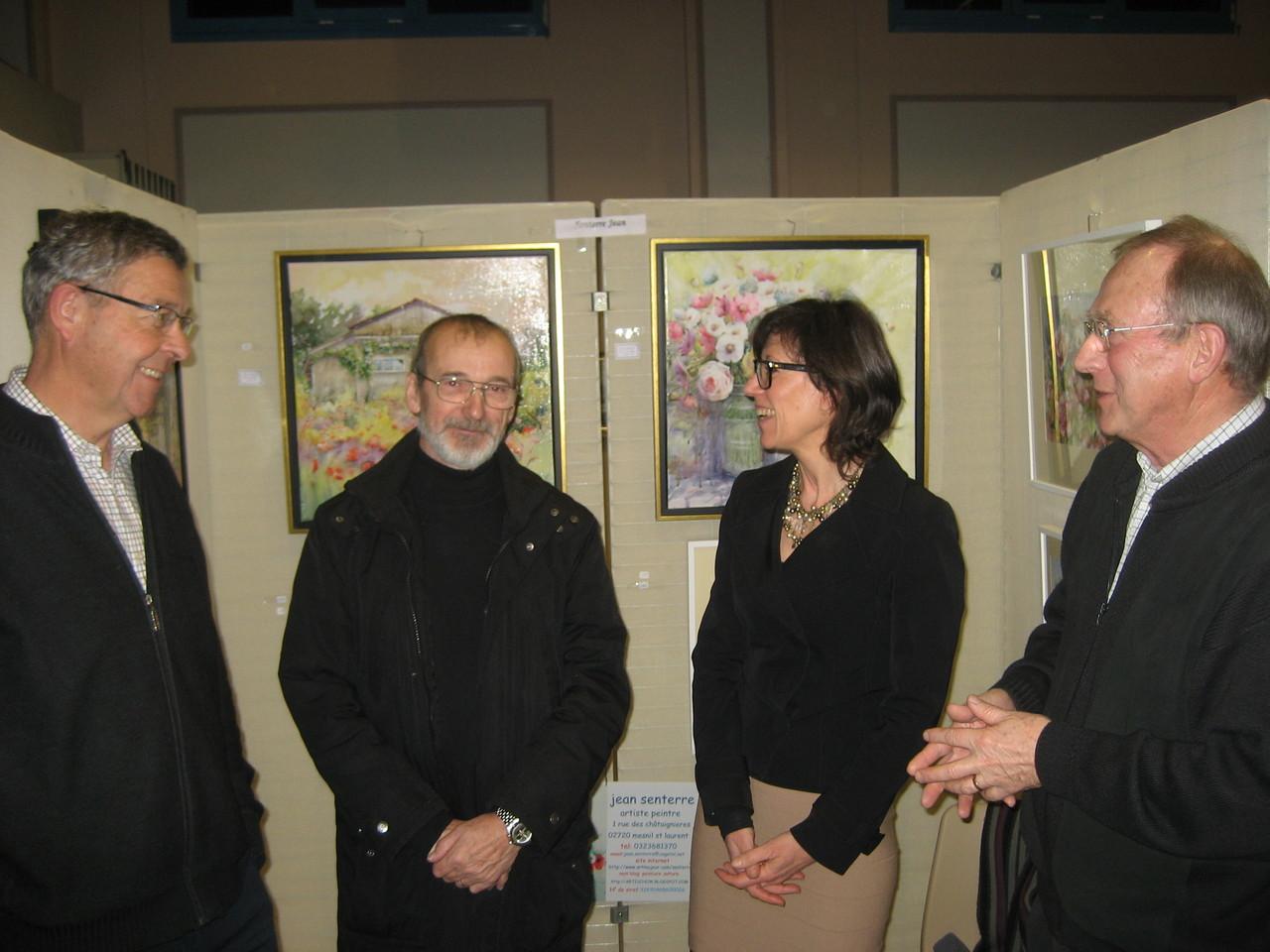 Messieurs Prévot, Senterre, Fouquet J. avec Madame Lalonde