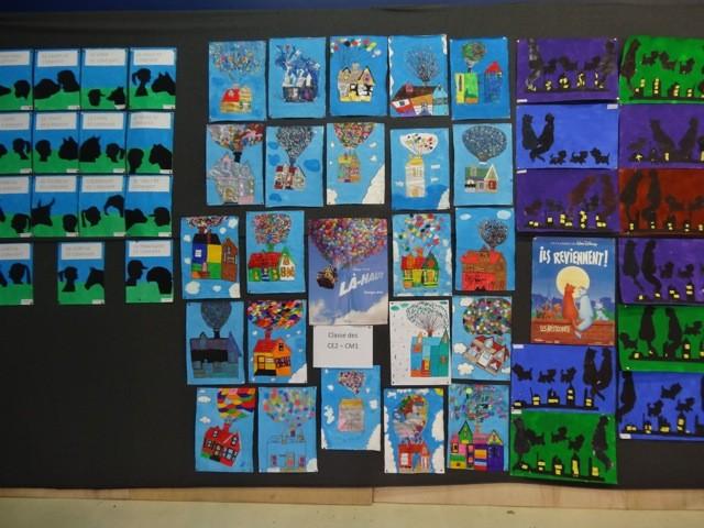 Les travaux des élèves de CE2-CM1