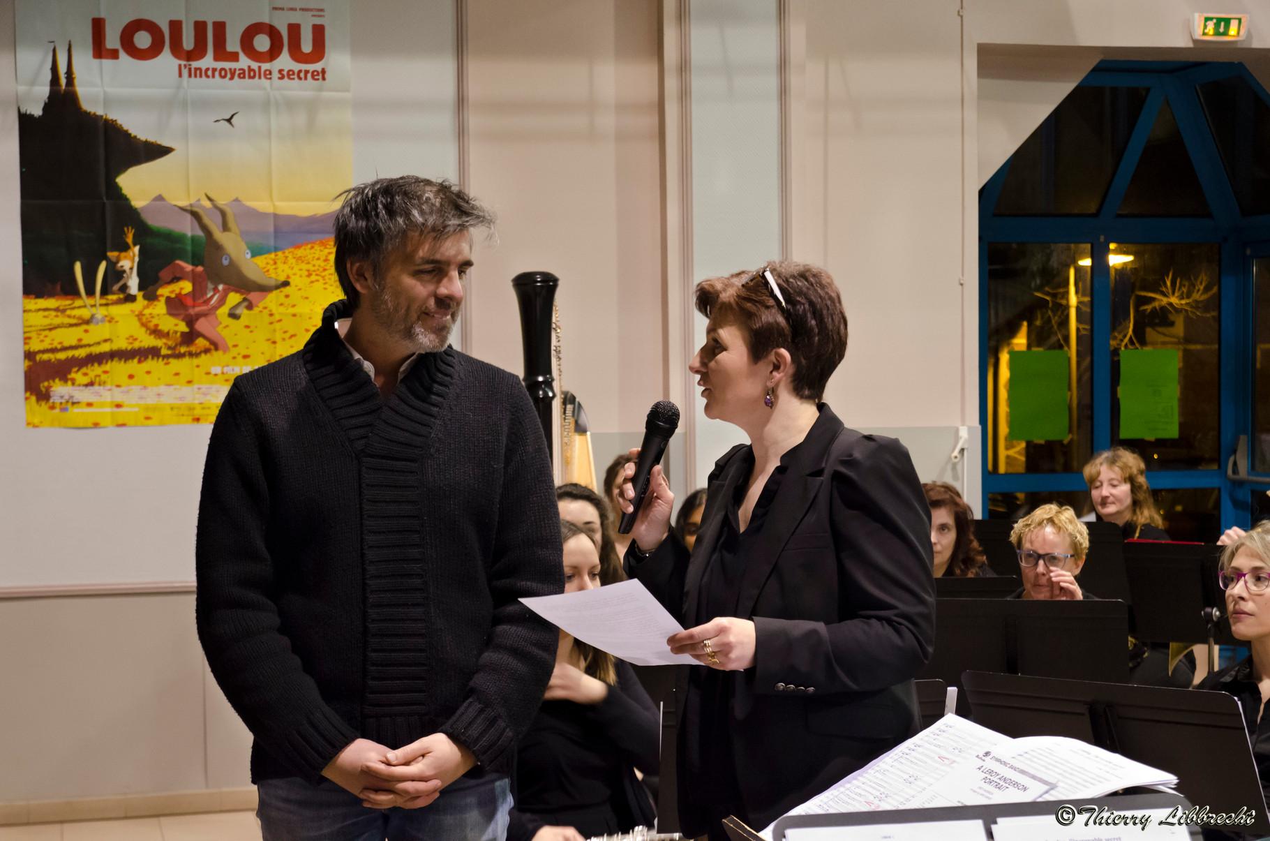 Blandine, la présidente et le compositeur de Loulou, Laurent Perez Del Mar