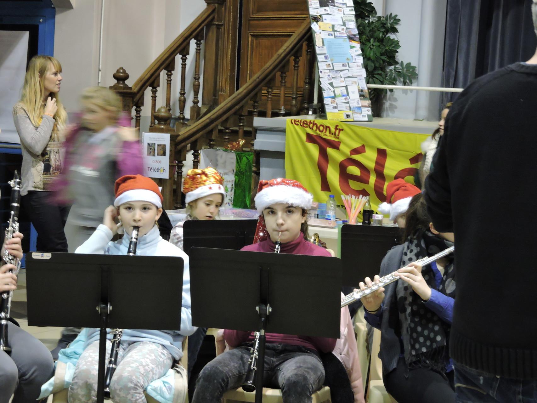 la concentration des jeunes musiciens