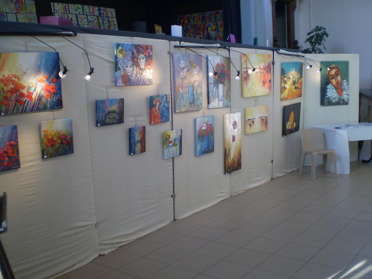 les tableaux de madame Gobeaut, invitée d'honneur