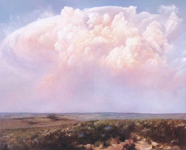 Storm Over the Flint Hills - 22 x 28  -  unframed: $50  framed: $150