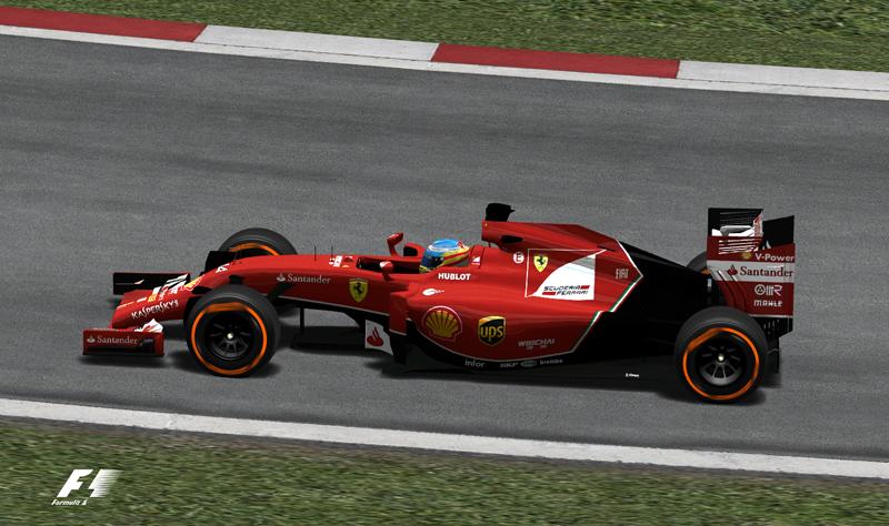 Ferrari F14T Barcelona texture livery