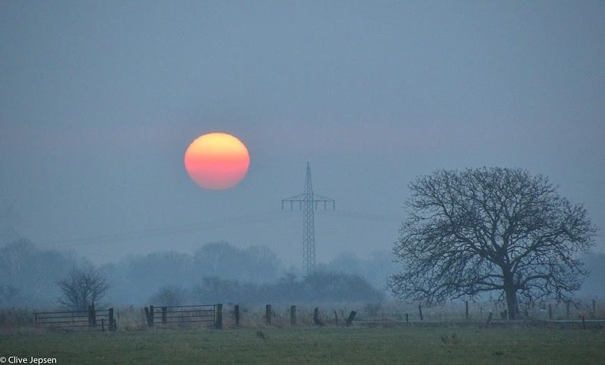 Sonnenaufgang im Nebel bei Varel