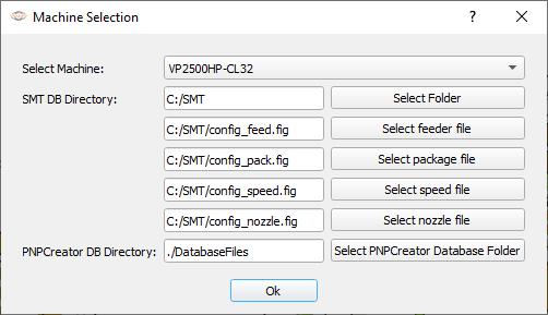 PNP Creator database path settings