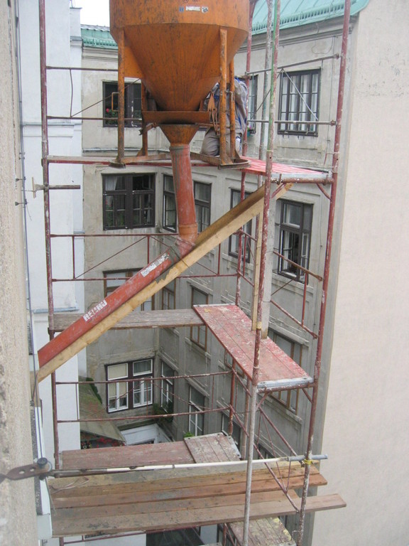 Betonierarbeiten Erdbebenscheiben