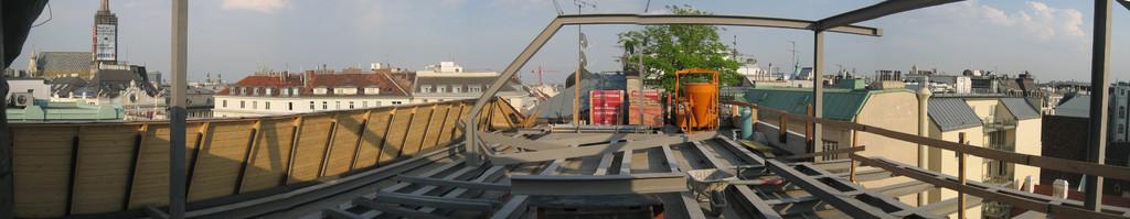 Stahlkonstruktion Skybox
