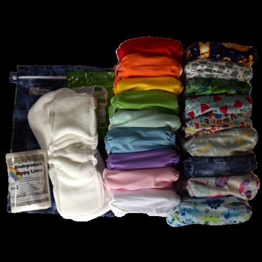 Glückliche Bebes mit Textilwindeln Stoffwindeln von Hippybottomus Suisse