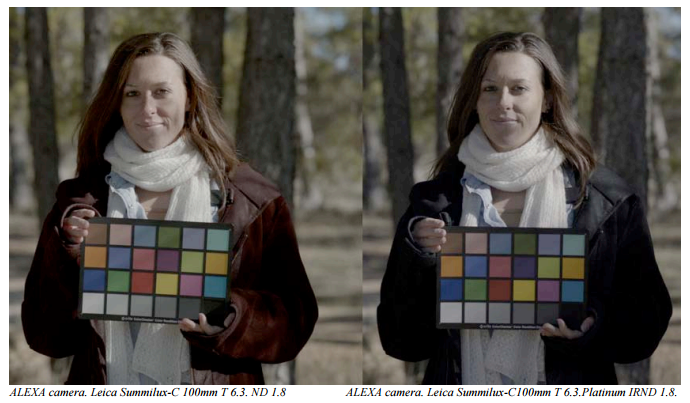 Example of IRND filter vs ND filter using ARRI Alexa camera