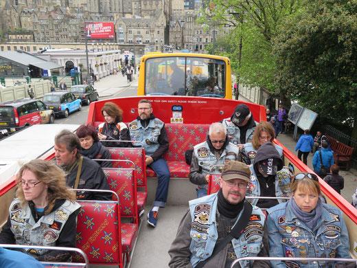 Städterundfahrt durch Edinburgh, es war etwas windig & frisch!