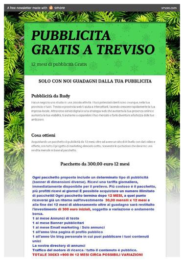 Pubblicità gratis a Treviso