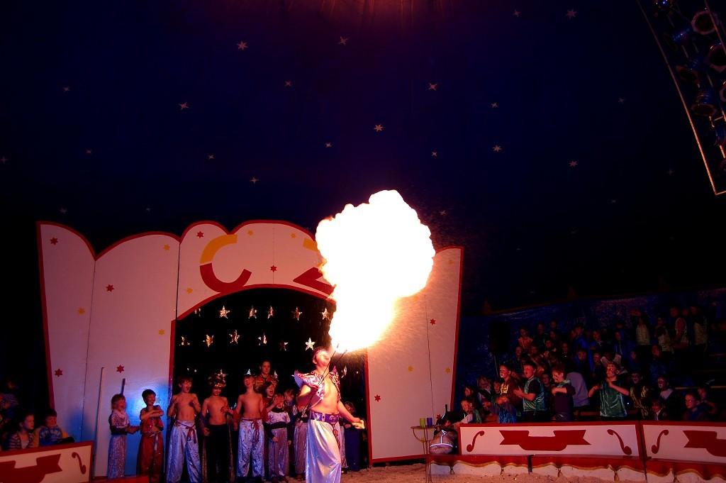 Heiße Stimmung beim Zirkusprojekt 2009 GT