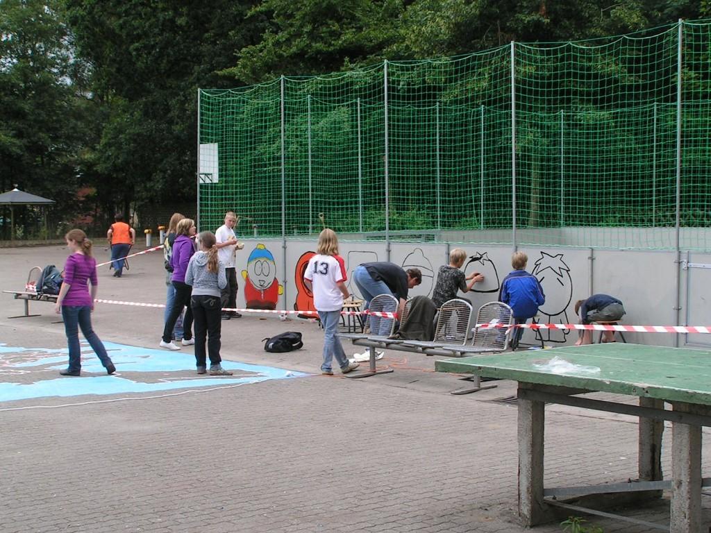 Projektwochen 2008 RHT - Schulhofgestaltung