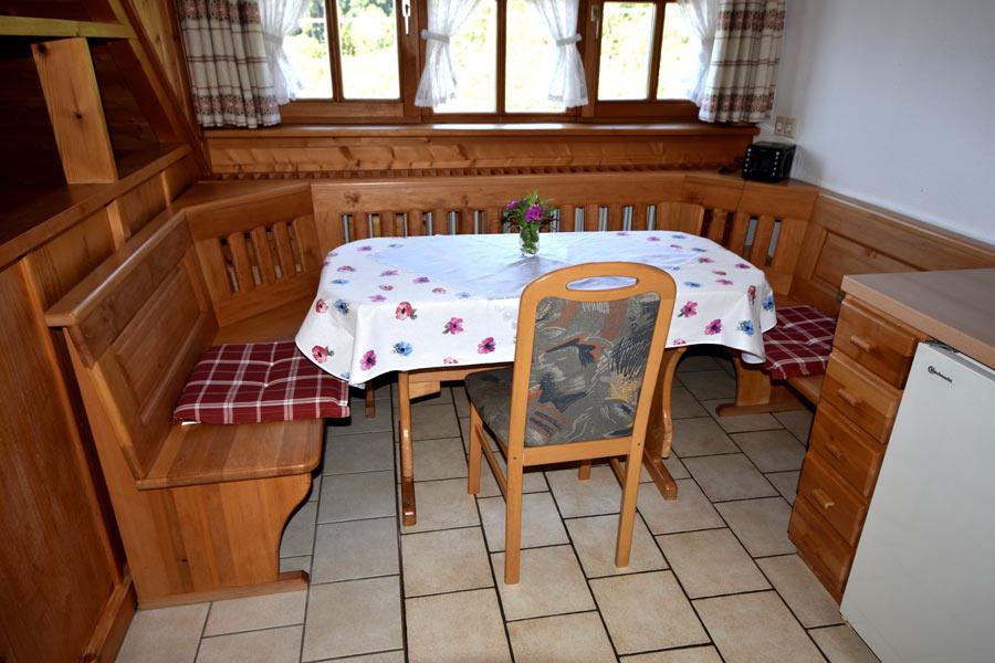 Sitzecke in Ferienwohnung 1