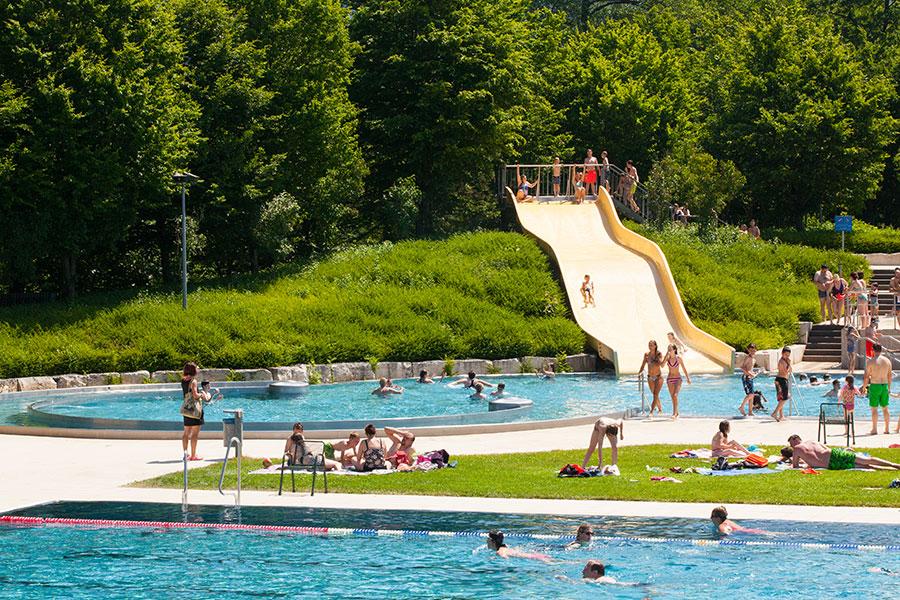 Dreisambad, ein Freizeitvergnügen ganz in der Nähe Ihrer Unterkunft © Foto: Tourismus Dreisamtal