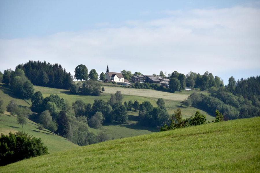 Pilgerstätte Lindenberg im Schwarzwald, ganz in der Nähe des Bauernhofs