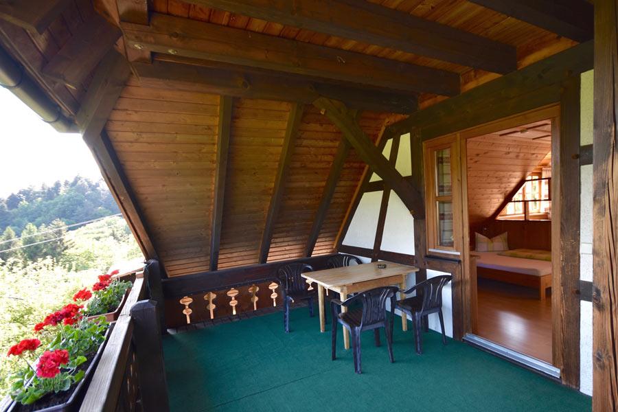 Balkon, Ferienwohnung 1