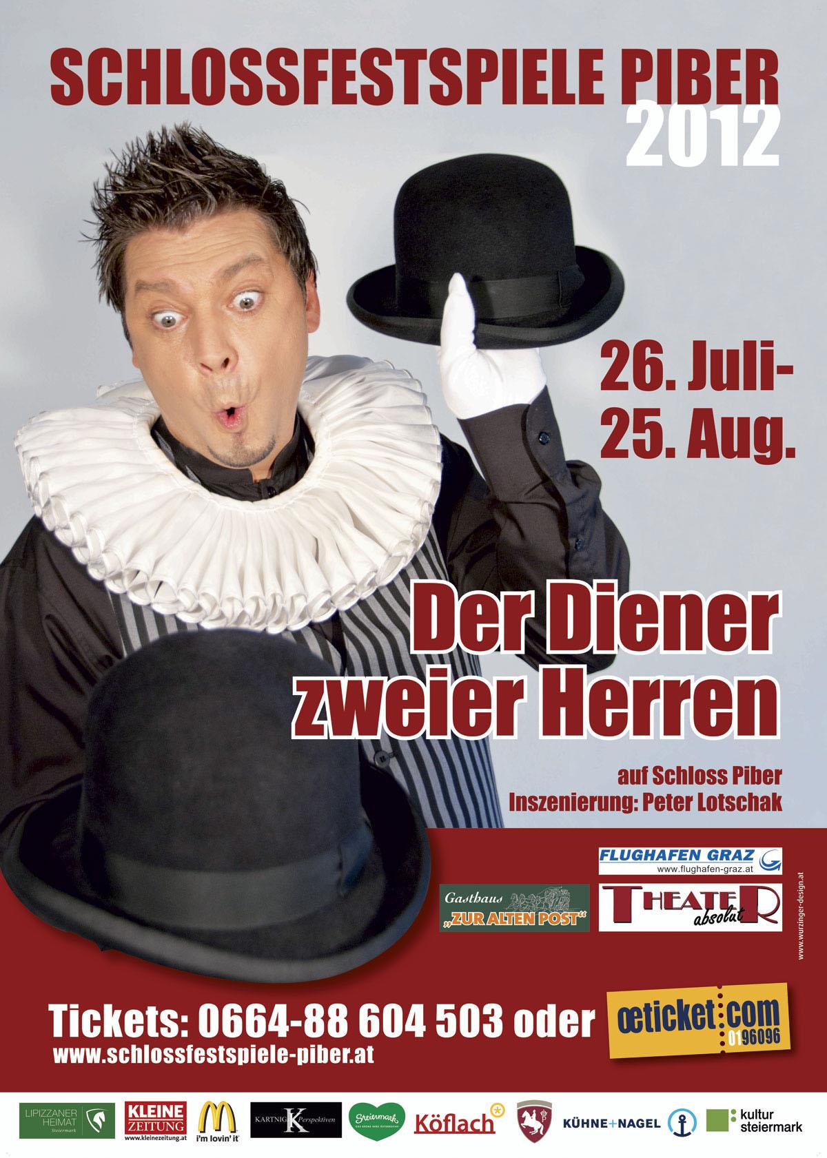 """Plakatt """"Der Diener zweier Herren"""" 2012"""