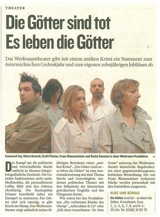 Kleine Zeitung vom 01. April 2005