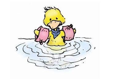 Gehe nur bis zum Bauch ins Wasser, wenn du nicht schwimmen kannst.