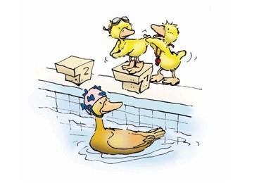 Vorsicht beim Sprung ins Wasser.