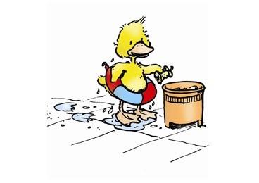 Halte das Wasser und seine Umgebung sauber,
