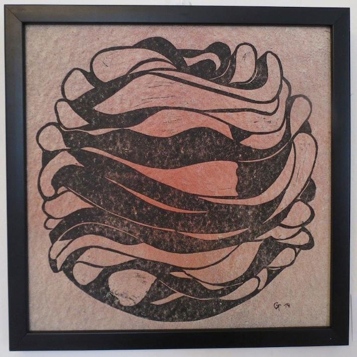 Urknall, Druck auf Weinfilterplatte, 30x30cm, 2014