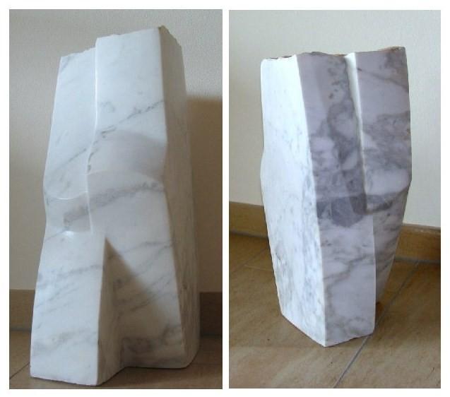 Schreitender, Marmor, H 42 cm, T 23 cm, B 16 cm, 2007