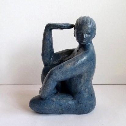 Karyatide II, Ton glasiert, 2011