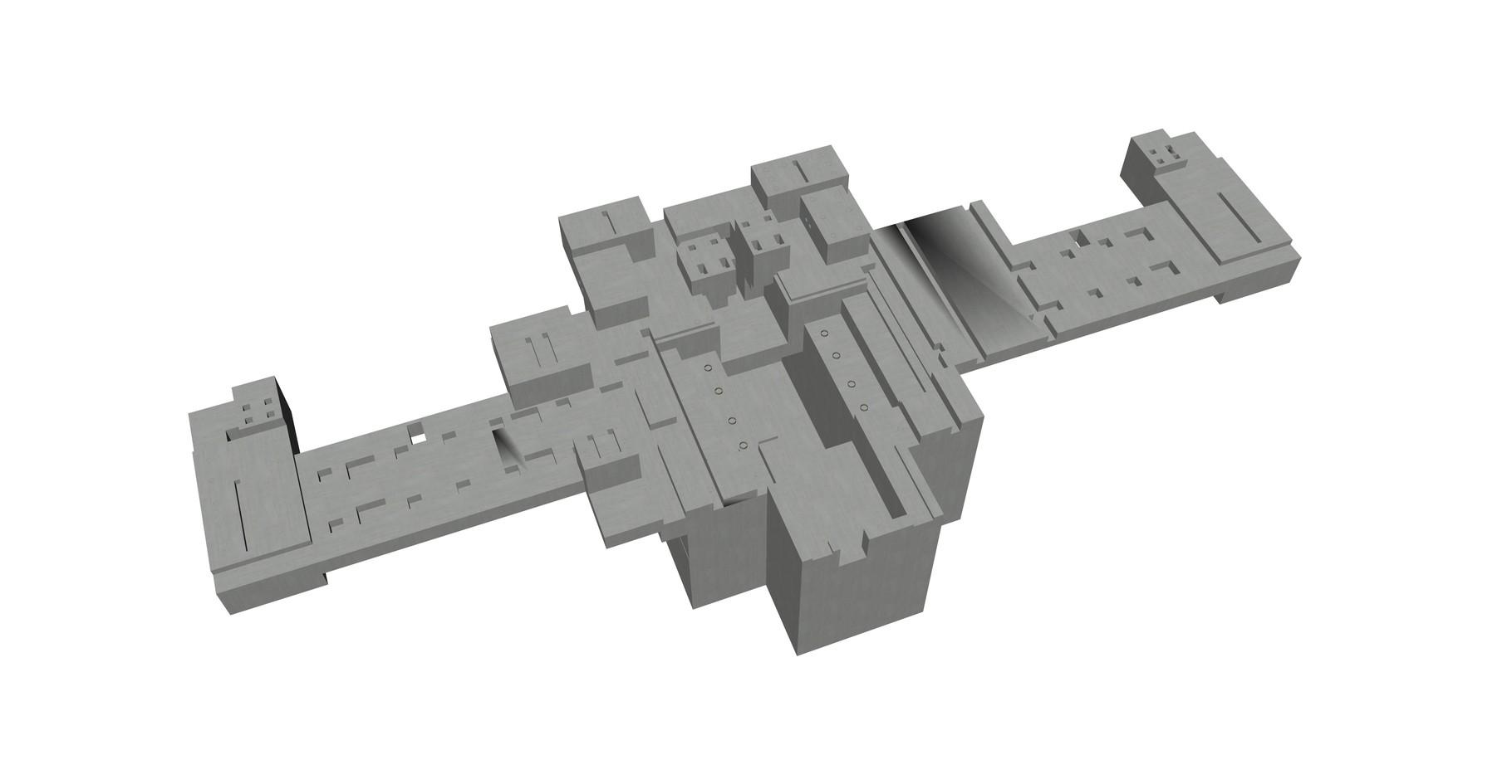 Visualisierung als Betonkörper