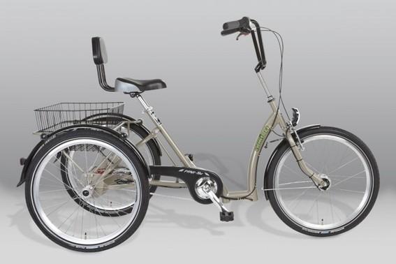 Ergonomische Sitzhaltung auf einem Dreirad