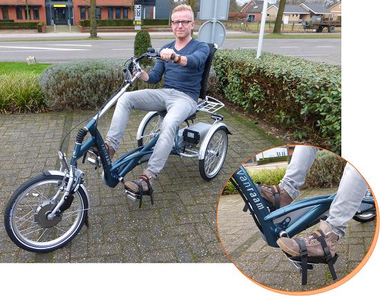 Neue Fußschalen für die Van Raam Dreiräder