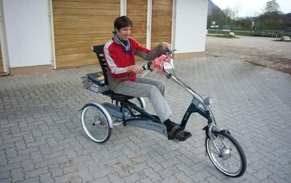 Spezialdreiräder für Menschen mit Bewegungseinschränkungen