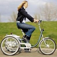 Wiedergewonnene Mobilität durch ein Dreirad