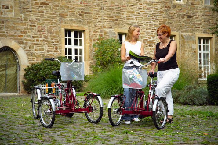 Front-Dreirad und Elektrodreirad für Erwachsene